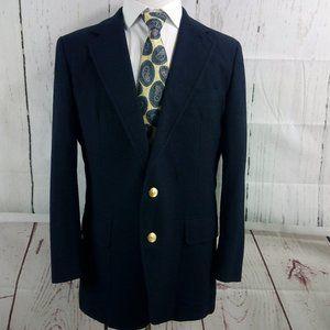Stanley Blacker Navy Blue Suit Blazer Sports Coat